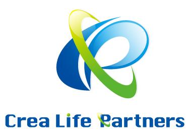 経営コンサルタントと立体的と青のロゴ