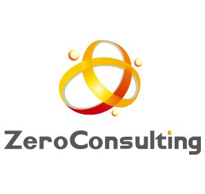 経営コンサルタントと立体的とオレンジのロゴ