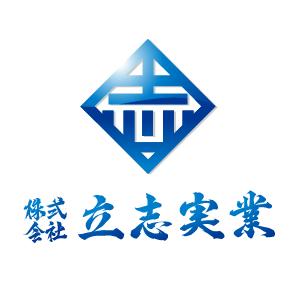 物流/運送と立体的と青のロゴ
