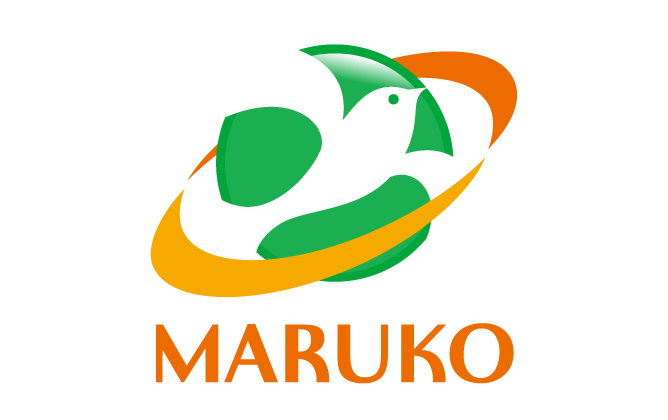 商社/卸売業と親しみ/優しいと緑のロゴ