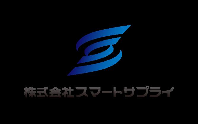 商社/卸売業と堅め/堅実と青のロゴ