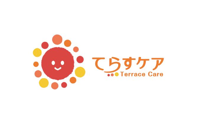 介護/福祉と親しみ/優しいと赤のロゴ