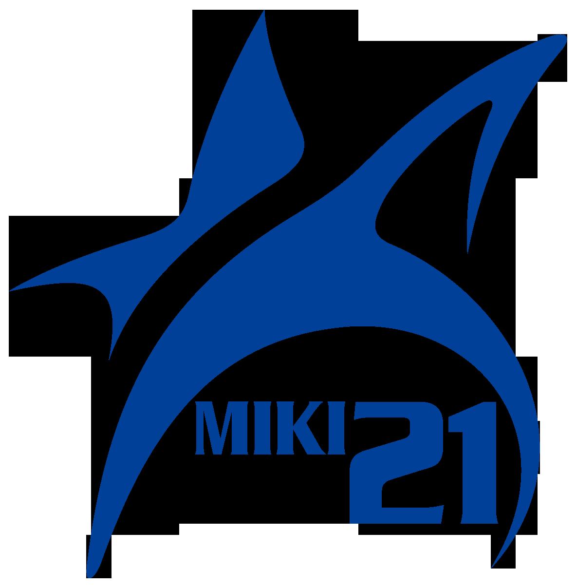 スポーツ系サービスとシンプルと青のロゴ