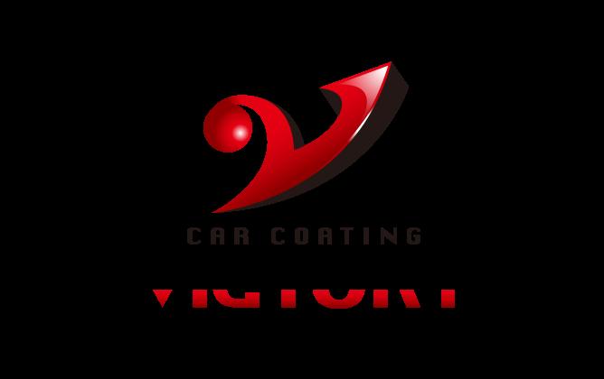 自動車関連(販売/修理・整備)と立体的と赤のロゴ