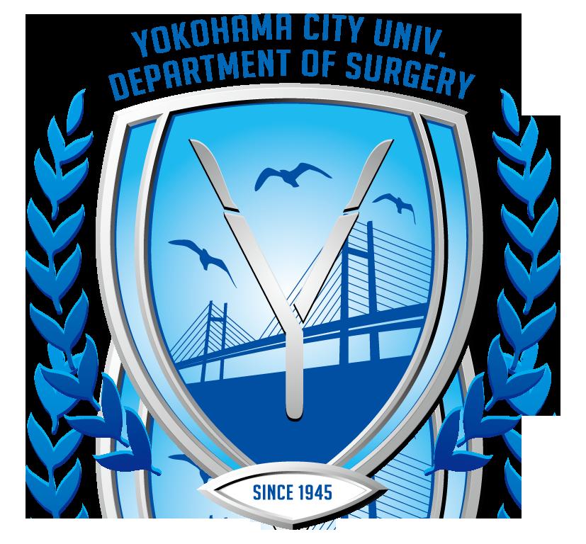 病院/クリニック/治療院/薬局と立体的と青のロゴ