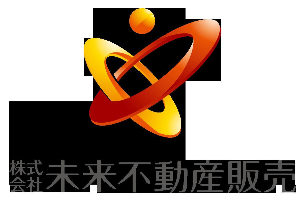 不動産業と近未来と赤のロゴ