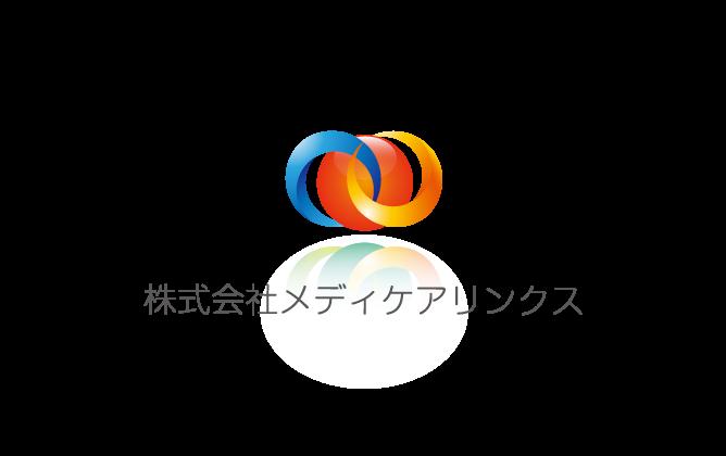 病院/クリニック/治療院/薬局と近未来とマルチカラーのロゴ