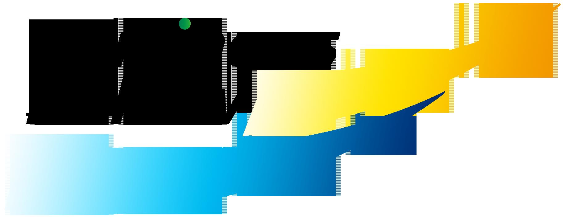経営コンサルタントとロゴタイプ(文字のみのデザイン)と黄のロゴ