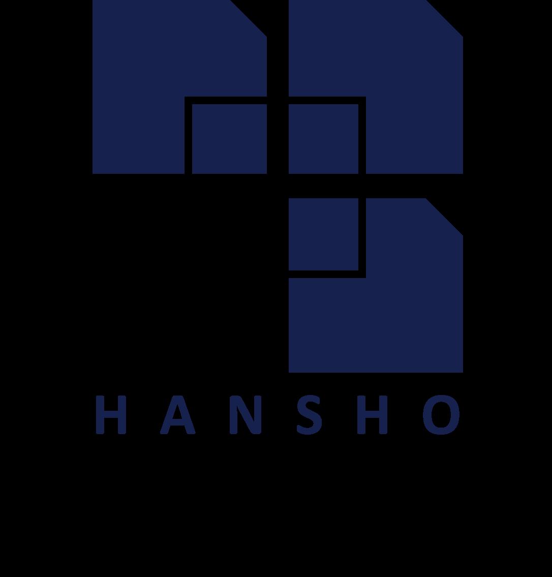 建築/建設/設備/設計/造園と堅め/堅実と紺のロゴ