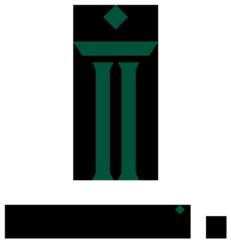 金融/保険/投資関連とシンプルと緑のロゴ
