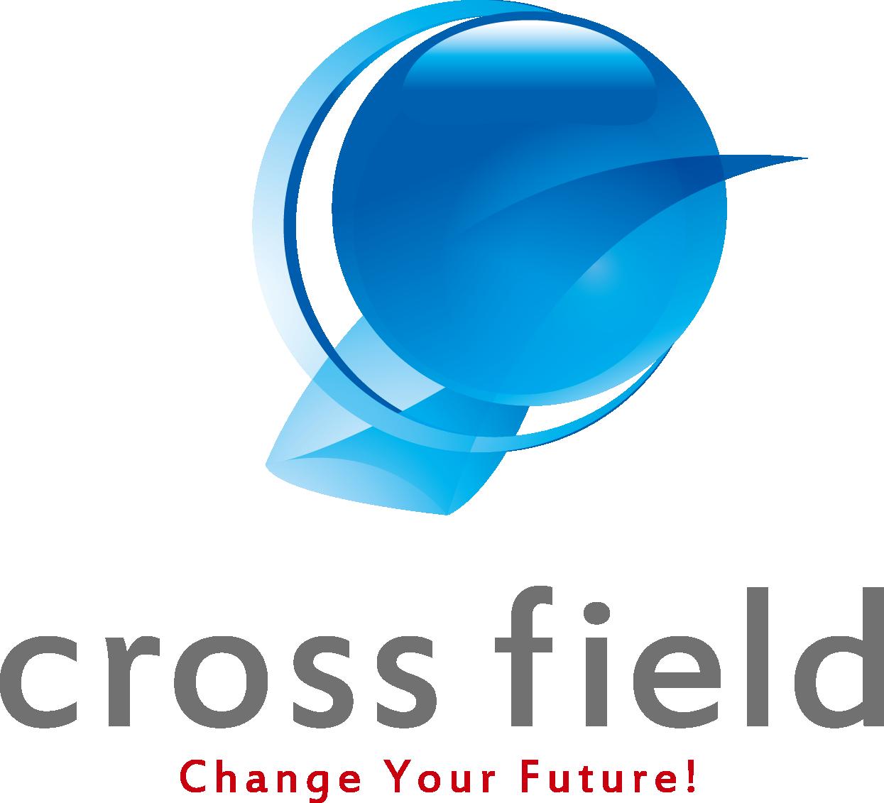 サービス業と近未来と青のロゴ