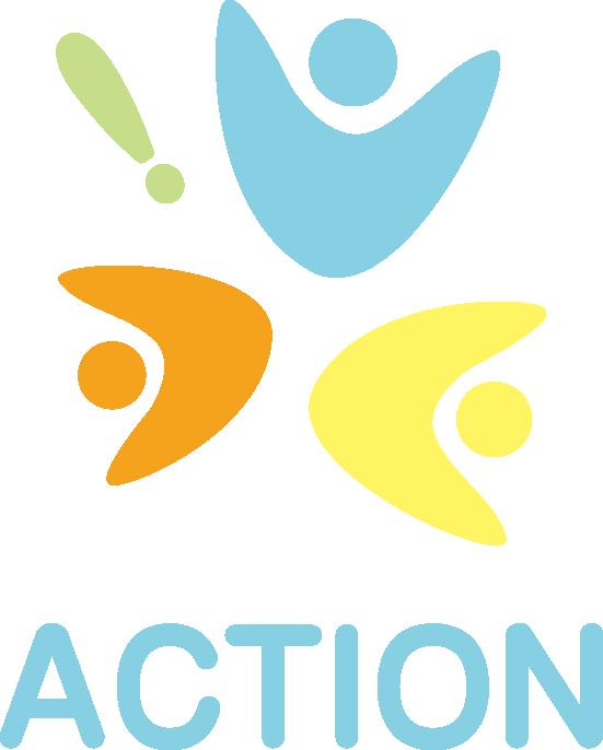 行政/公的機関/各種団体と親しみ/優しいとマルチカラーのロゴ