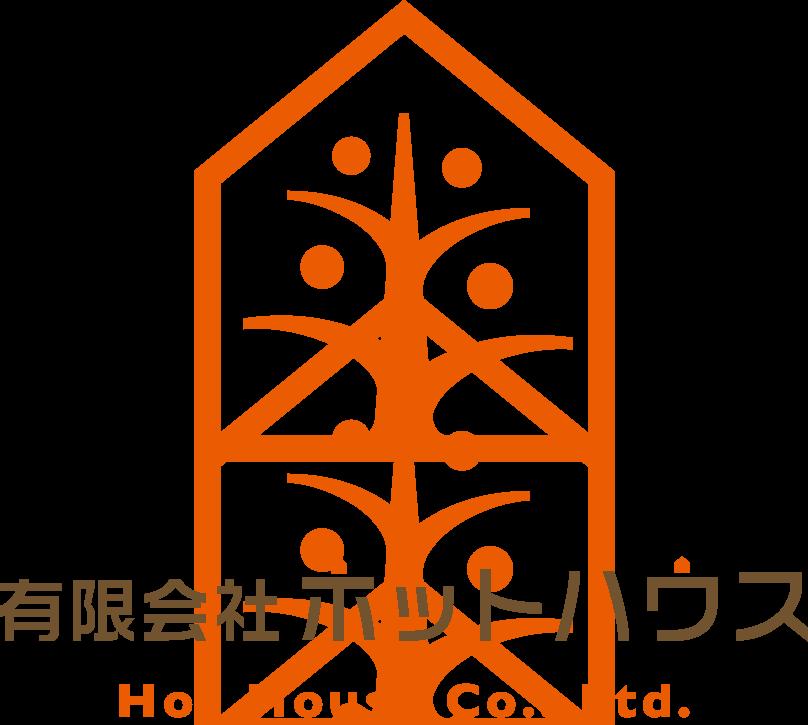 建築/建設/設備/設計/造園と親しみ/優しいとオレンジのロゴ
