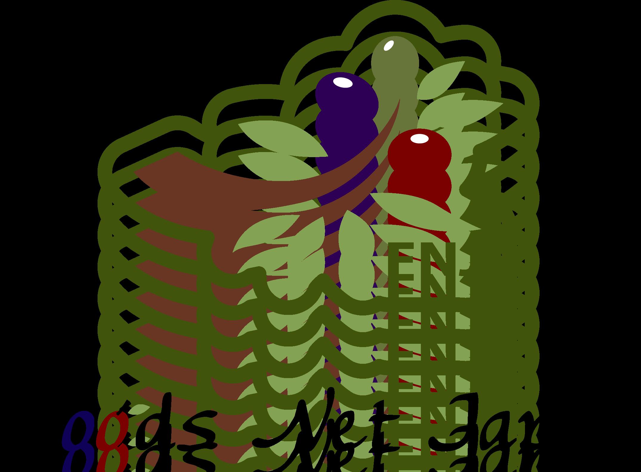 飲食業と親しみ/優しいとマルチカラーのロゴ