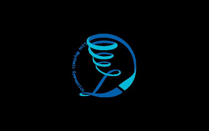 スポーツ系サービスと綺麗/ 華やかと青のロゴ