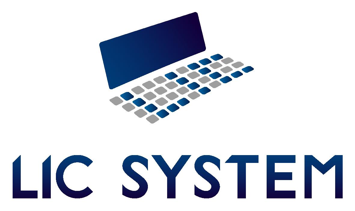 ソフトウェア・プログラム開発とイラストと青のロゴ