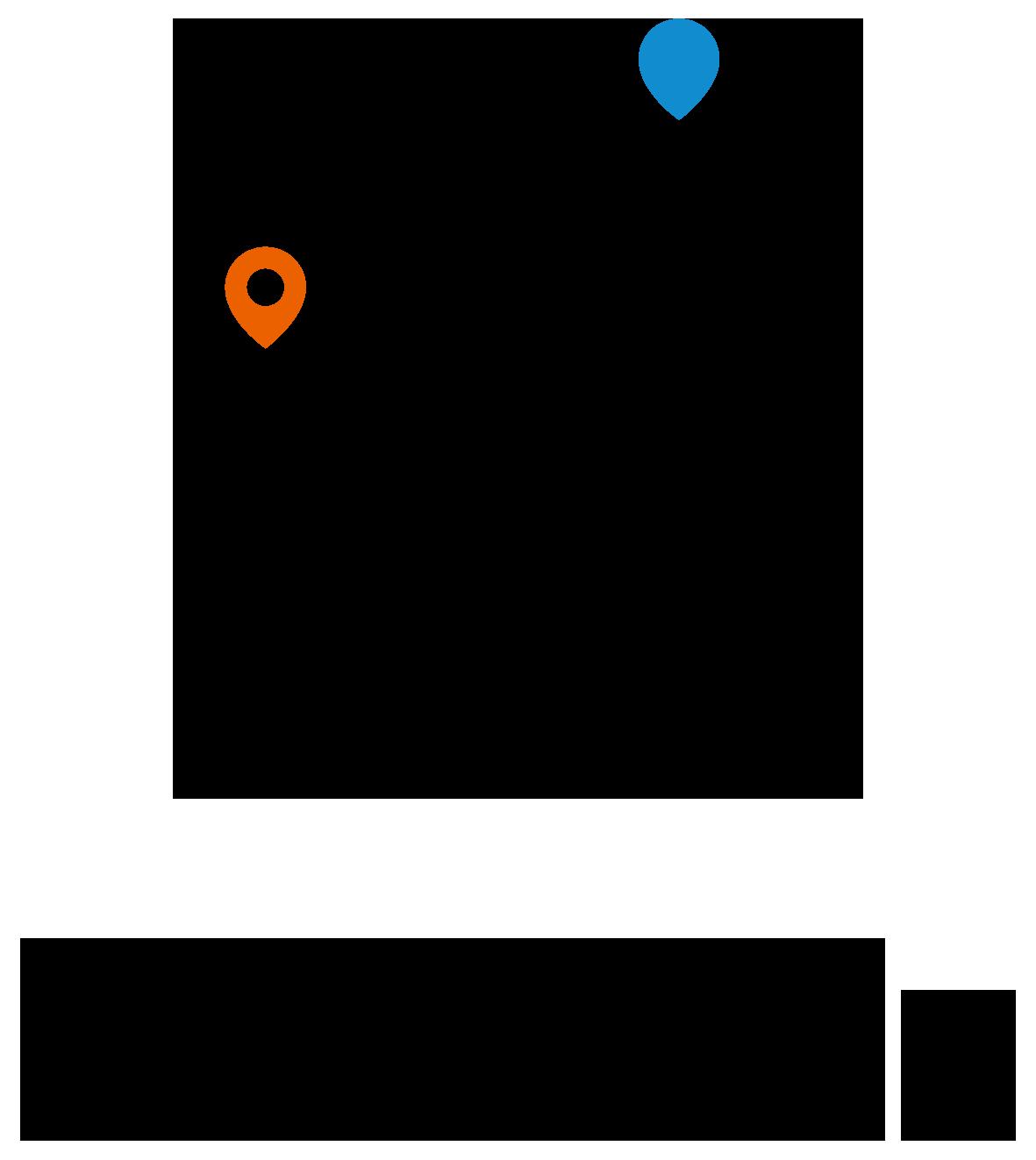 サービス業と親しみ/優しいと黒のロゴ