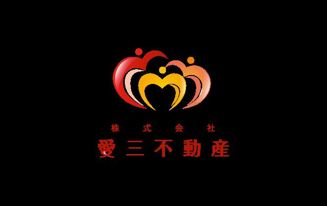不動産業と親しみ/優しいと赤のロゴ
