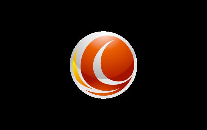 サービス業と近未来と銀のロゴ