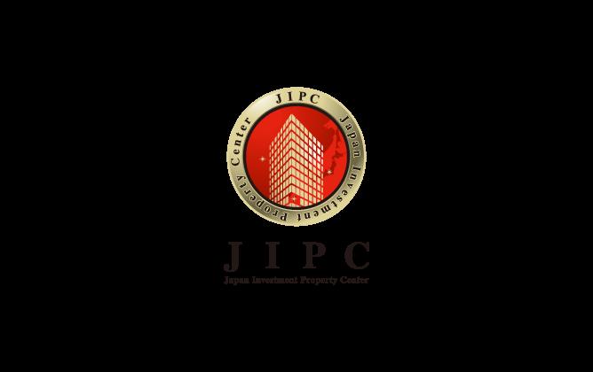 不動産業と立体的と金のロゴ