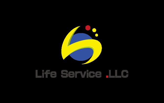 サービス業と親しみ/優しいと黄のロゴ