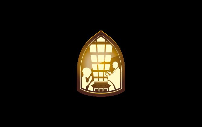 その他と和風/筆タッチと金のロゴ