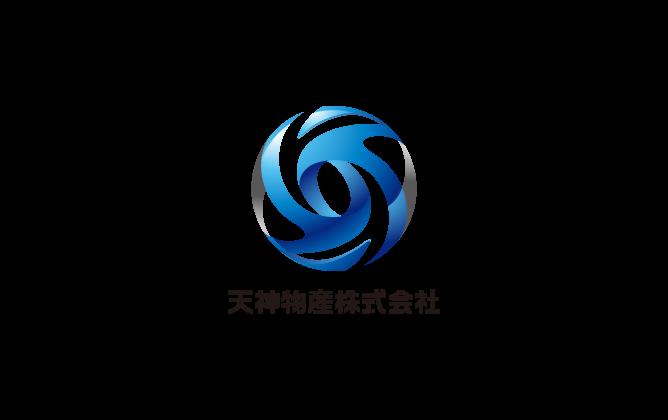 商社/卸売業と立体的と青のロゴ