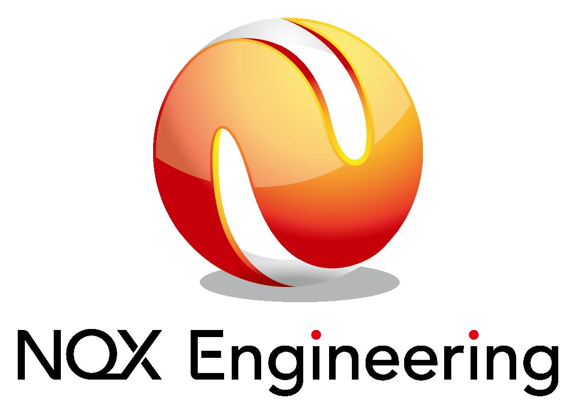 建築/建設/設備/設計/造園と近未来とオレンジのロゴ