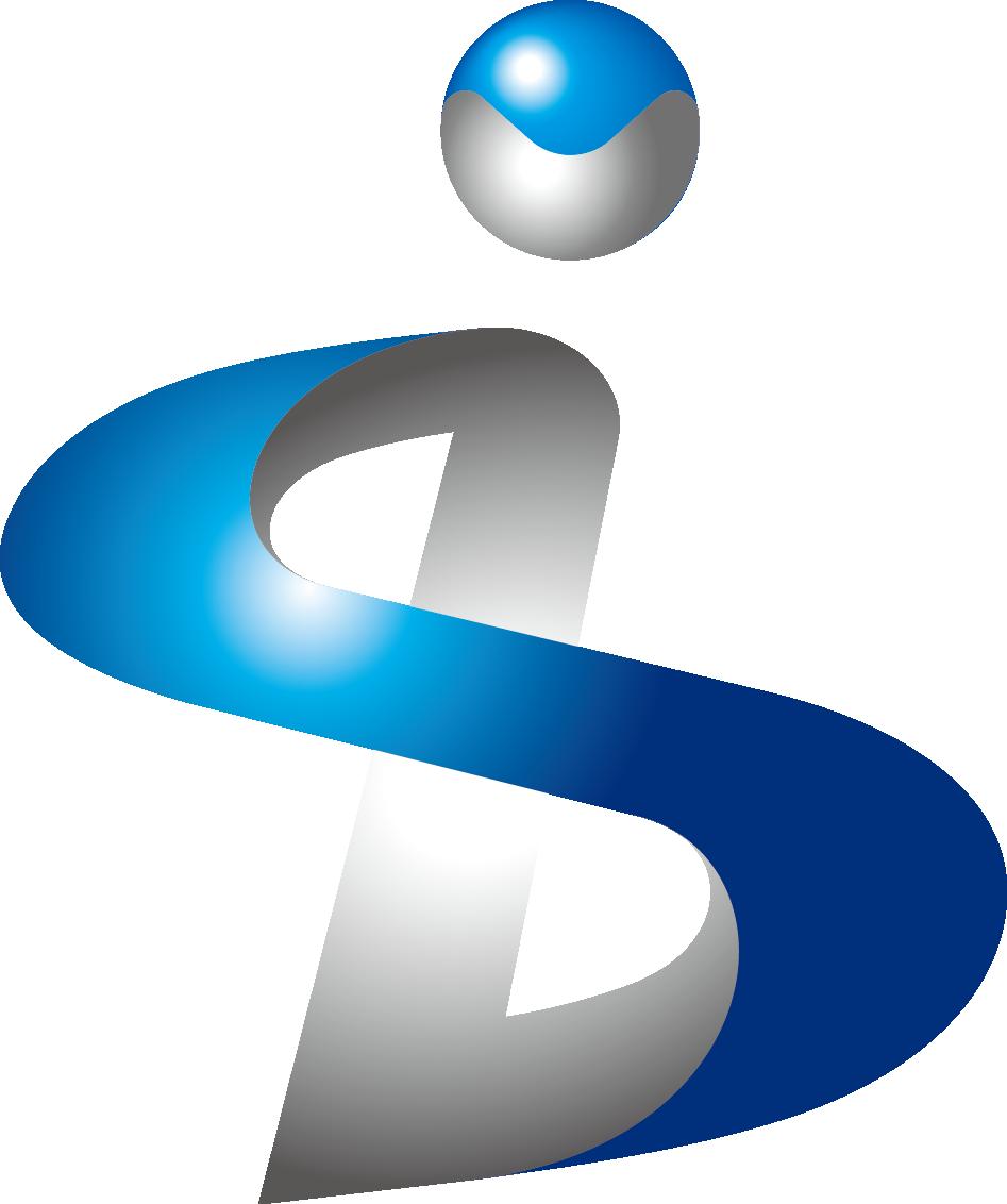 建築/建設/設備/設計/造園と立体的と青のロゴ