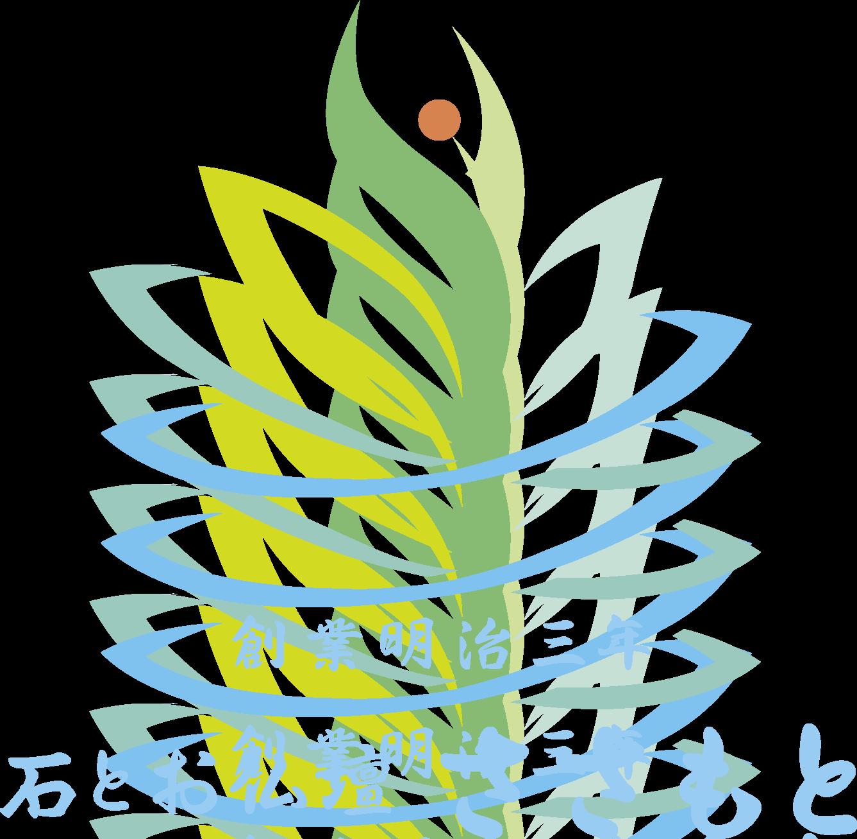 小売業と和風/筆タッチと青のロゴ