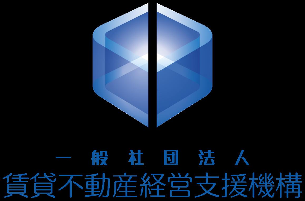 不動産業と近未来と青のロゴ
