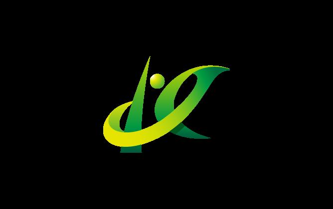不動産業と立体的と緑のロゴ