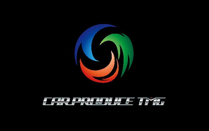 自動車関連(販売/修理・整備)と立体的と銀のロゴ