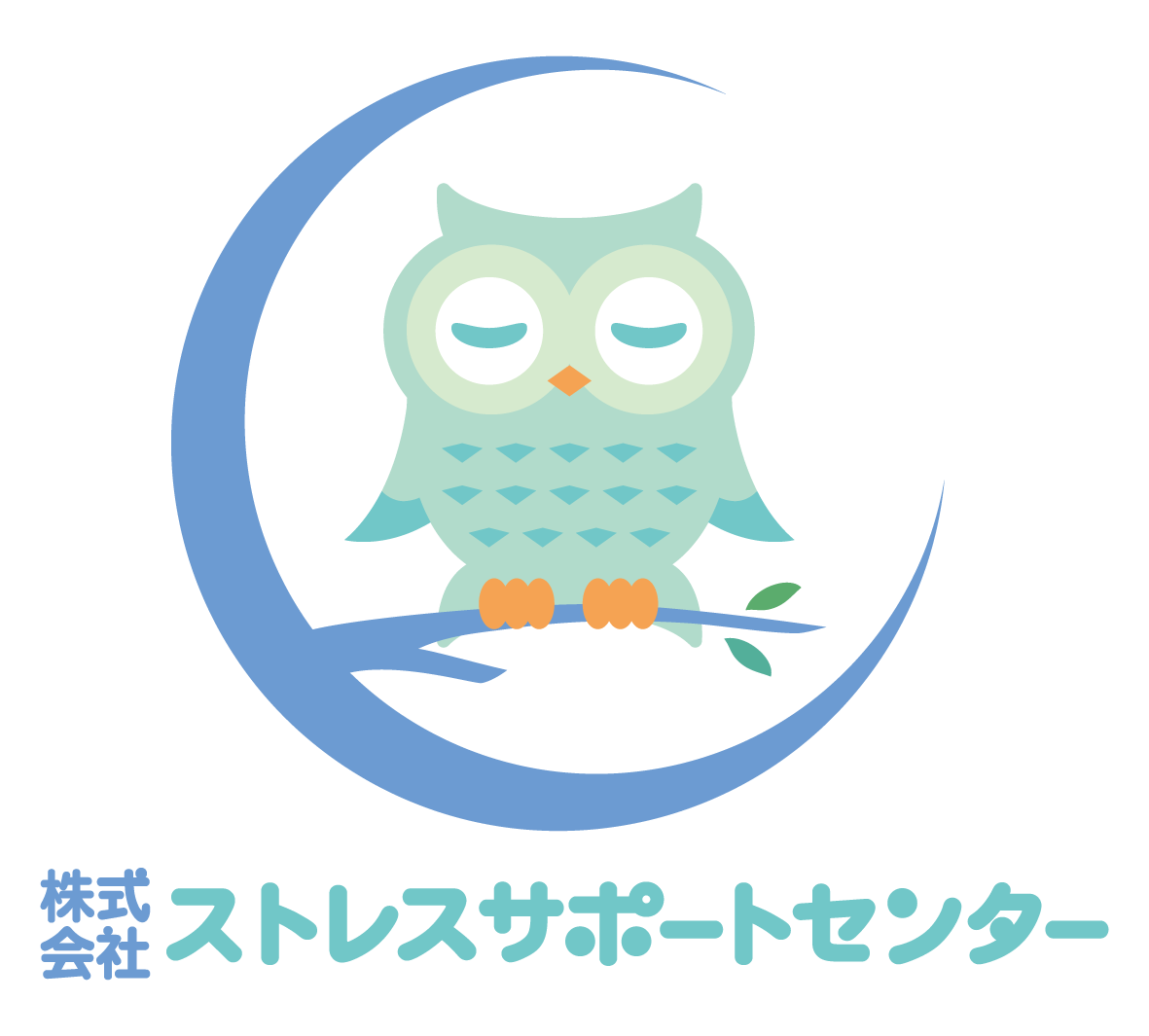 人材系サービスと親しみ/優しいと青のロゴ