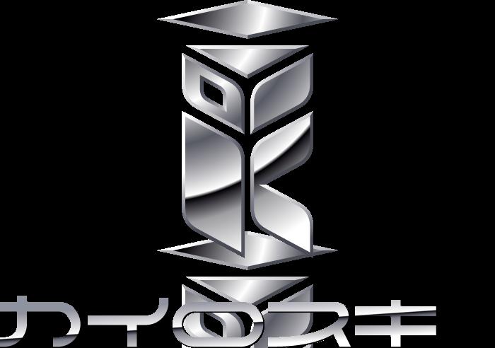 製造/メーカーと近未来と銀のロゴ