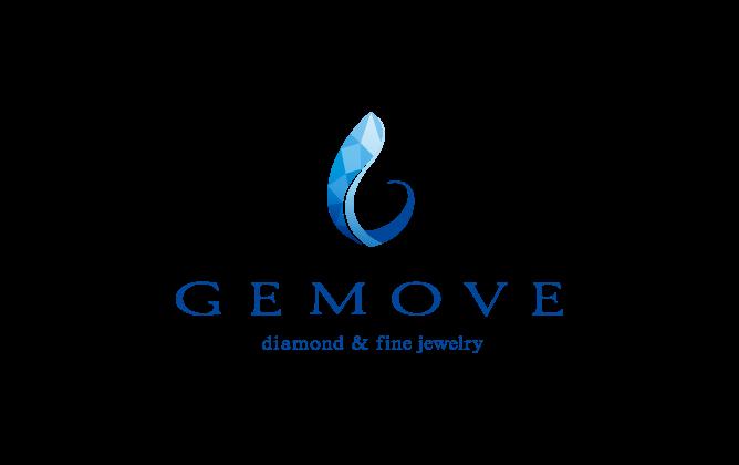小売業と高級感/気品と青のロゴ