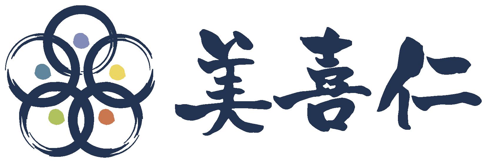 飲食業と堅め/堅実と紺のロゴ
