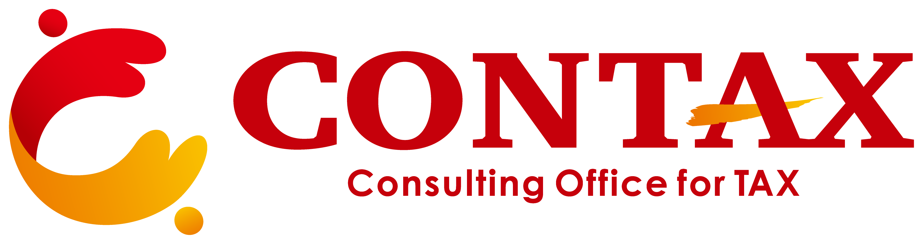 経営コンサルタントとシンプルと赤のロゴ