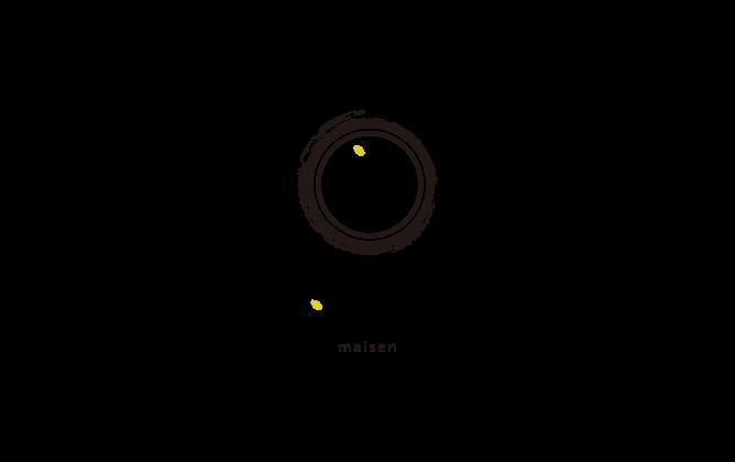 飲食業と堅め/堅実と黒のロゴ