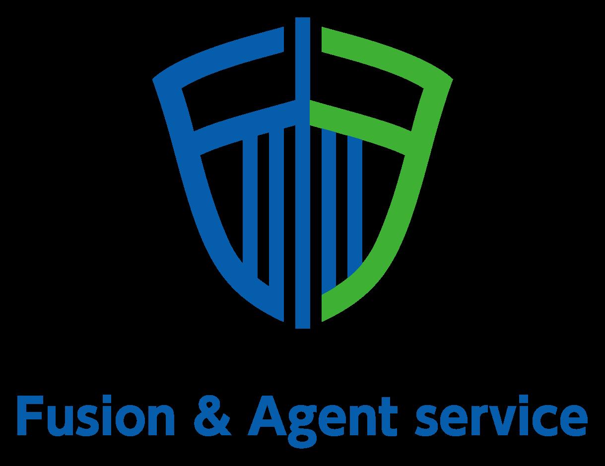 金融/保険/投資関連と堅め/堅実と青のロゴ