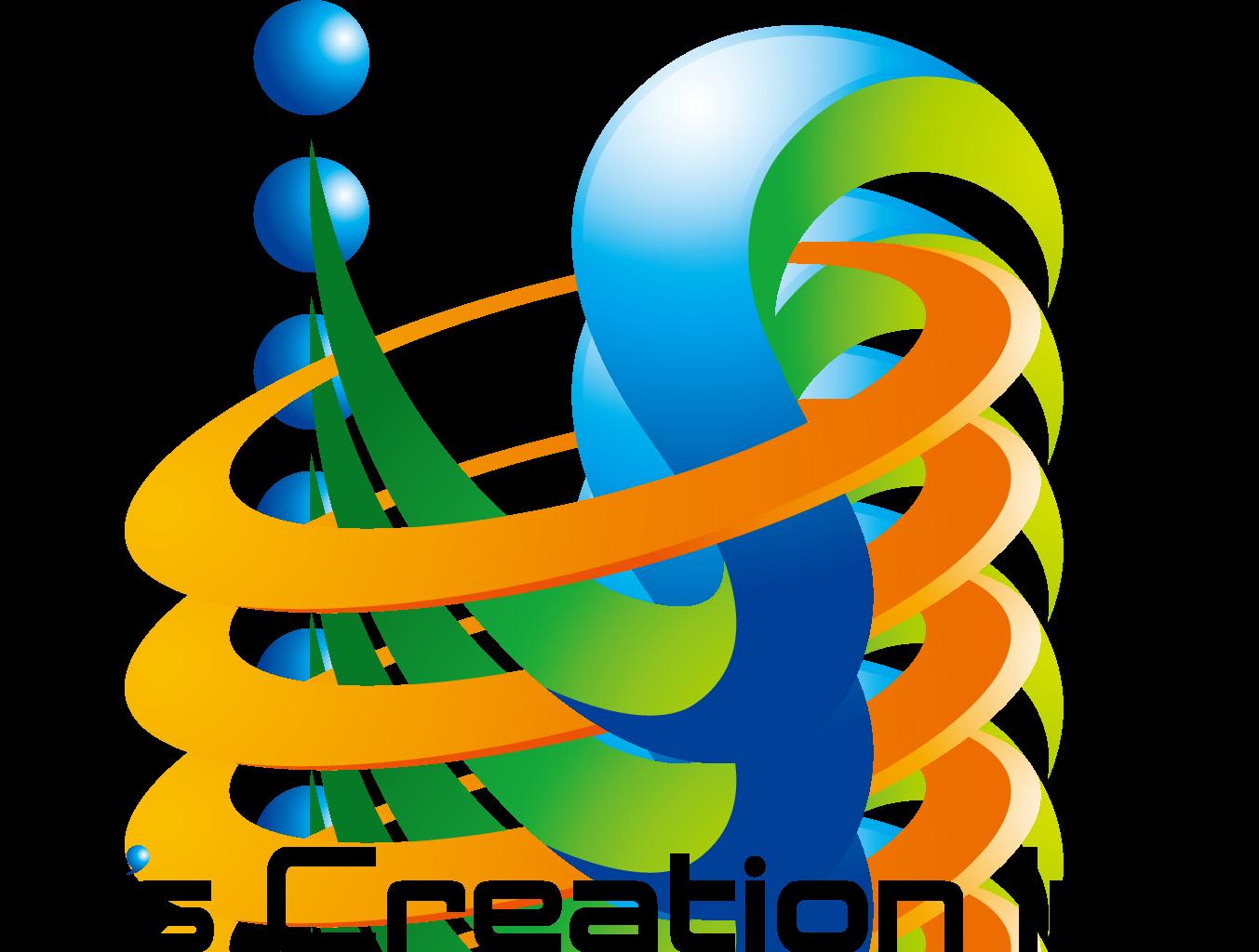 その他と近未来とマルチカラーのロゴ
