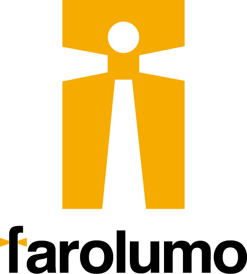 サービス業とシンプルとオレンジのロゴ