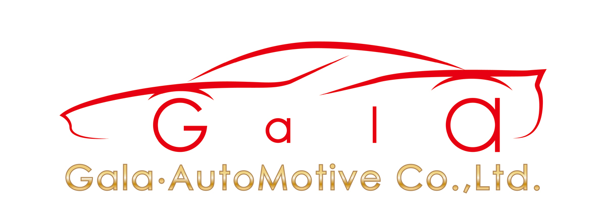 自動車関連(販売/修理・整備)と近未来と金のロゴ