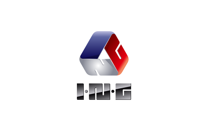 建築/建設/設備/設計/造園と近未来とマルチカラーのロゴ