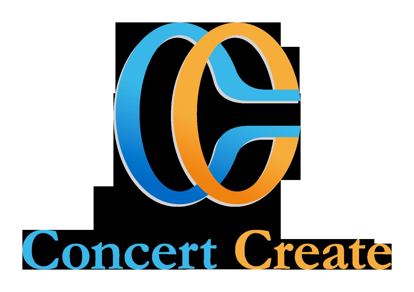 イベント業とシンプルと青のロゴ