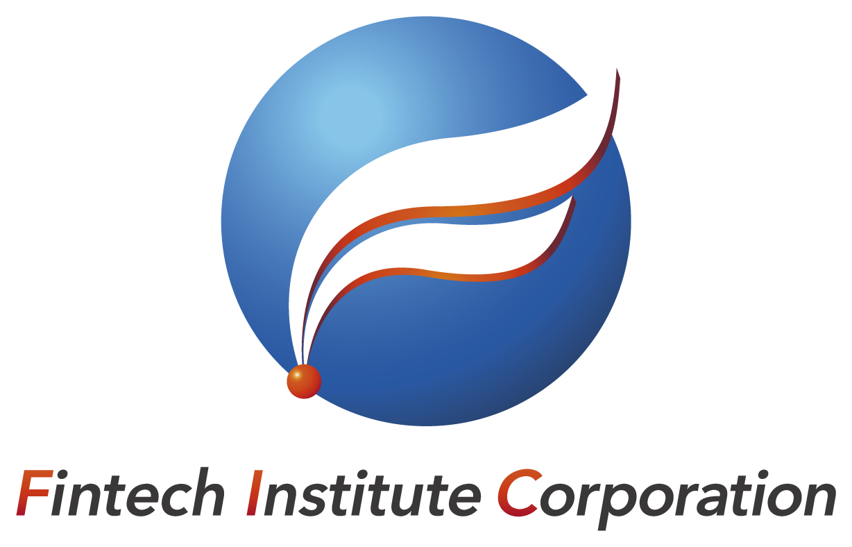 金融/保険/投資関連と立体的と青のロゴ