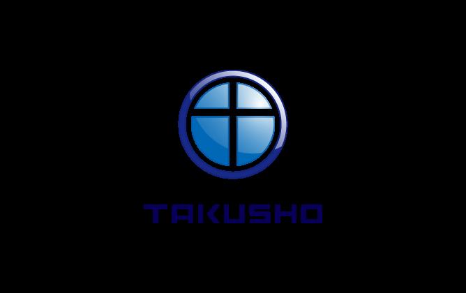 工業と立体的と青のロゴ