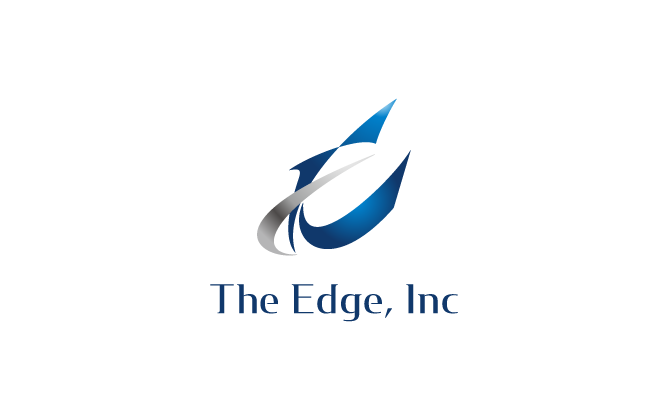 サービス業と高級感/気品と青のロゴ