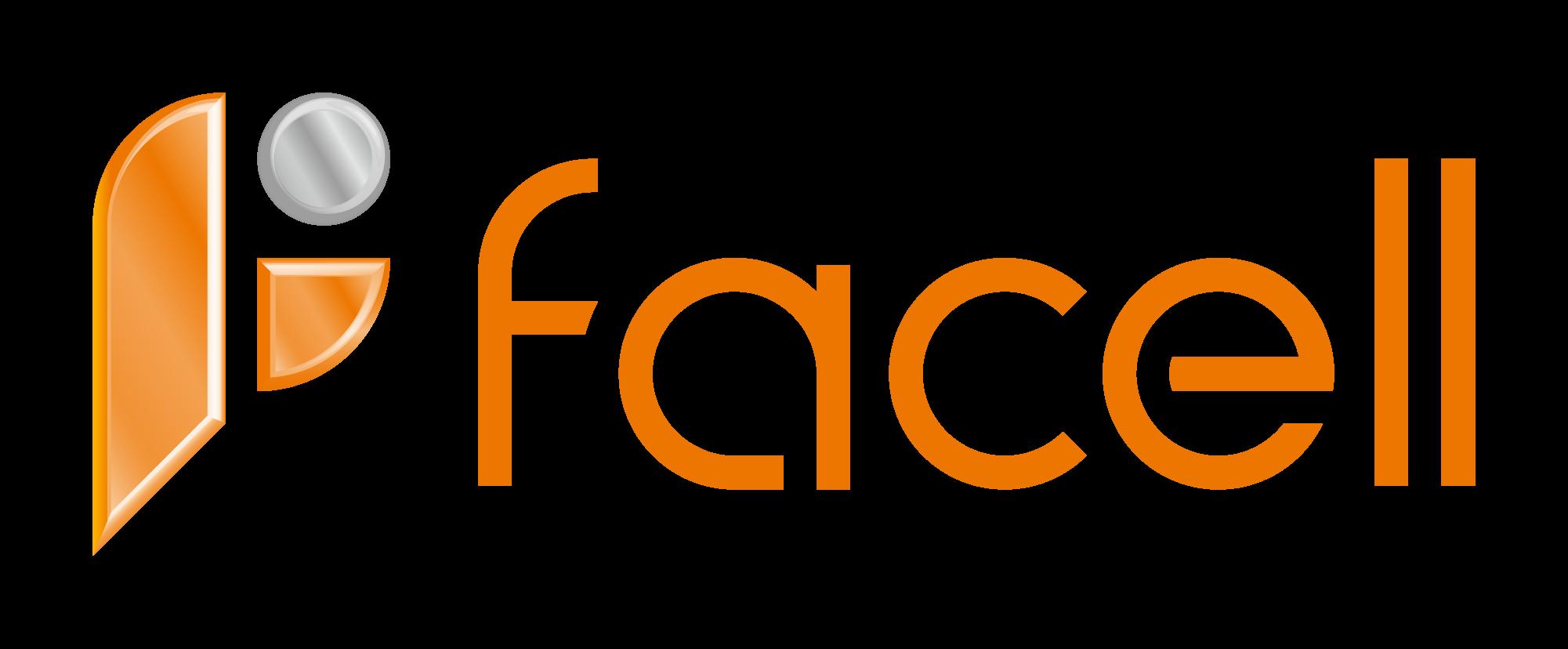 商社/卸売業と近未来とオレンジのロゴ