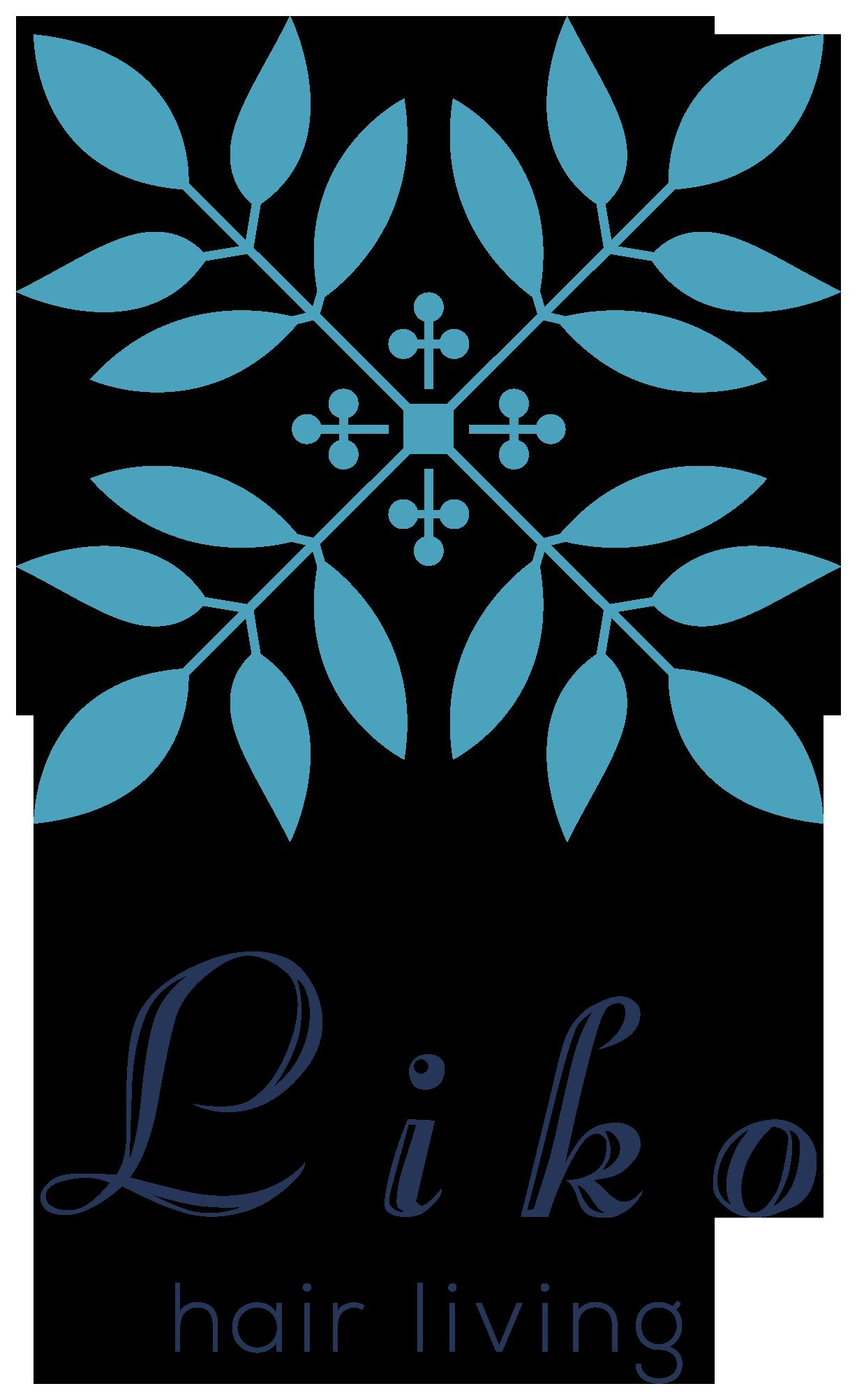 美容室/理髪店/美容系サロンと高級感/気品と青のロゴ